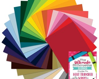 Siser EasyWeed Heat Transfer Material 12 In x 15 In - Top 29 Assorted Color Starter Bundle