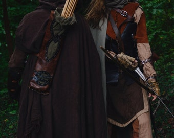 Medieval and Fantasy Linen Cloak