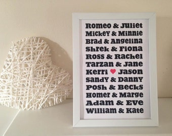 Personalised A4 Print (free P&P)