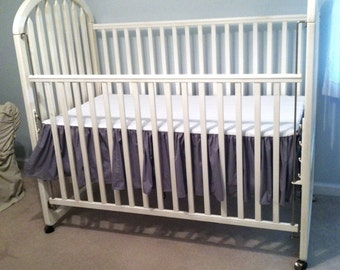 Gray Crib Skirt and Bumper Pads - CLOSET CLEAN OUT