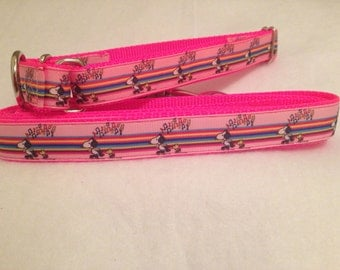 Snoopy Inspired Dog Collar, Snoopy / Peanuts Martingale Dog Collar, Snoopy Leash