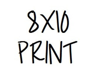 8X10 Print - After your purchase of digital image