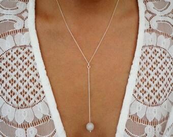 The Adora Jade Drop Pendant Necklace