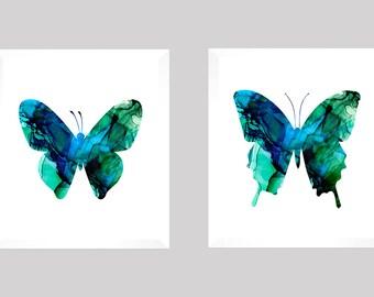 Butterfly Prints, Butterfly Decor, Bathroom Prints, Livingroom Art, Bedroom Prints, Watercolor, CUSTOM COLORS, Nursery Decor, Baby Room