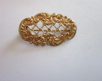 Antique Victorian Fancy Gold Brooch