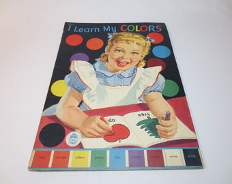 1950s Coloring Book / I Learn My Colors