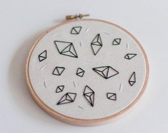 Look How They Shine ~ READY TO SHIP 5' Handmade Embroidery Hoop Art
