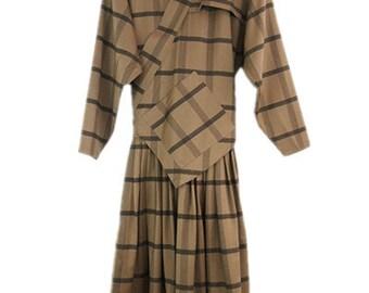 1980's vintage wool dress