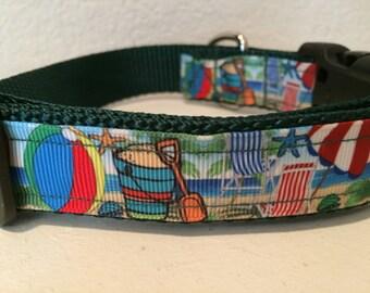 Fun at the Beach dog collar