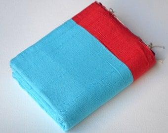 TURKISH TOWEL - Turkish Bath Towel - Turkish Beach Towel - Peshtemal Towel - Turkish Blanket - Peshtemal - Handmade Beach Towel -009