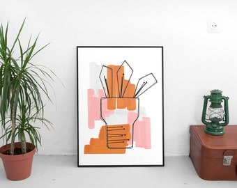 Art print - Abstract Plant