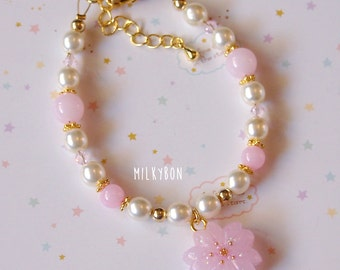 Cute Sakura Cherry Blossom Bracelet (beaded)
