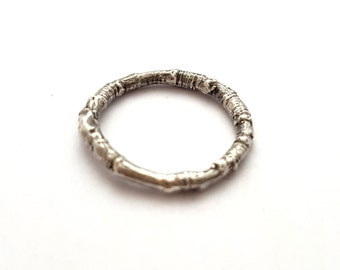 Silver Woodland Ring - Twig Nature Forest Woods Boho