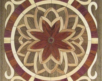 """8""""x 8"""" Marquetry Project Kit - Flower"""