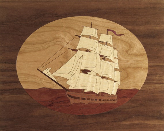 "8""x 10"" Marquetry Project Kit - Constitution"