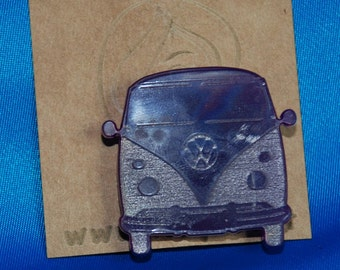 Laser cut acrylic -VWbus brooch