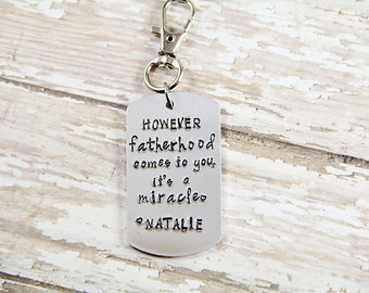 New Dad Gift - Baby Shower Gift - However fatherhood comes to you its a miracle Foster Parent, Adoption Gift, Adoption Dad - Step Dad