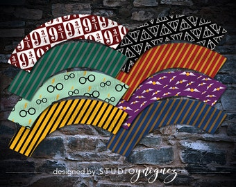 Harry Potter Printable Cupcake Wrappers