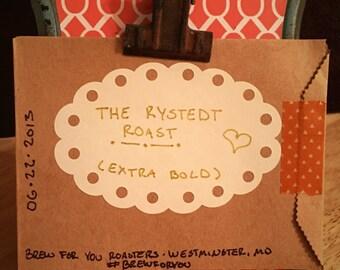 100 Custom Roasted Coffee Favors (Organic, Fair Trade)