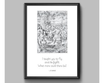 Digital Print - Peter Pan - I Taught You