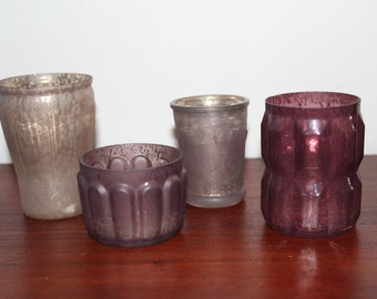 Four Vintage Looking Small Jars