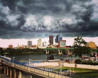 Storm Clouds Over Little Rock -- South -- Nature Photography -- Skyline