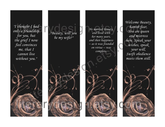 Beauty And The Beast Printable Bookmarks Jeanne Marie