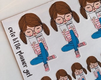 Cute Little Planner Girl Stickers