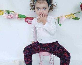 Multi colored baby leggings
