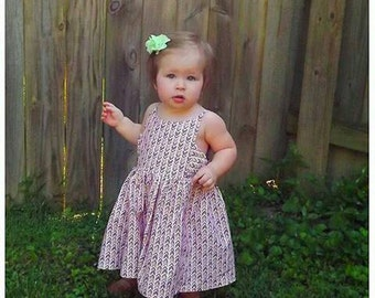 The Kaylee dress. Many prints to choose from. Please contact me before ordering for print choices.