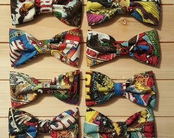 Marvel Comics Fabric Bowties or Bow Clips