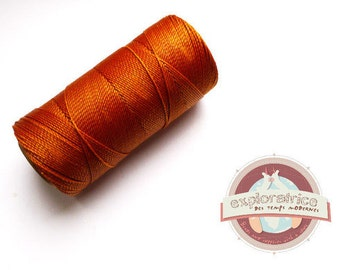 4 meters cord waxed for macrame Brown ochre 0.7 mm polyester