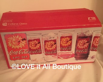 Coca-Cola glasses nib drinking glasses Cups LOVE IT ALL Boutique