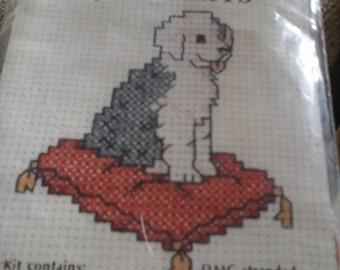 cross stitch mini dog kit