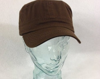 Blank Brown Cadet hat