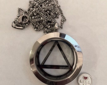 AA Silver Magnetic Locket Pendant - Silver + Three Charms, Reflectzen