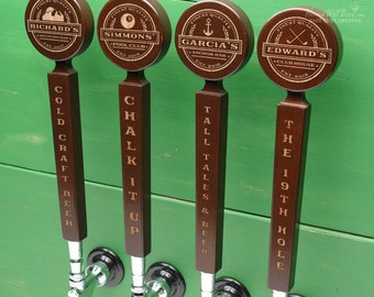 Custom Beer Tap Handle with Well-Made Personal Stamp Design - Personalized Beer Gifts Custom Tap Handles for Dad and Home Bar