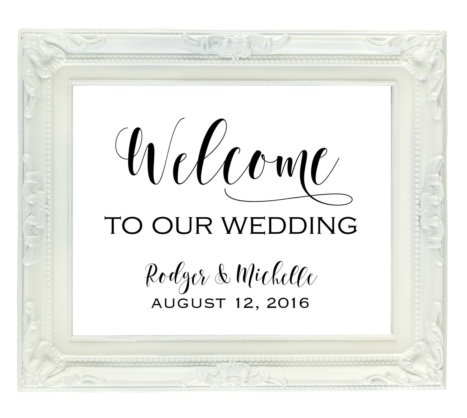 Welcome To Mr Hardison S Page: Custom Wedding Welcome Sign Welcome To Our Wedding Sign With