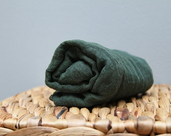 """Dark Green Newborn Cheesecloth Wrap Photography Prop Hand Dyed Choice of Length 36"""" x 36,"""" 36"""" x 54,"""" or 36"""" x 72"""" Grade 50 RTS"""