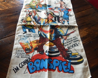Vintage Man Cave Curling Bar Towels