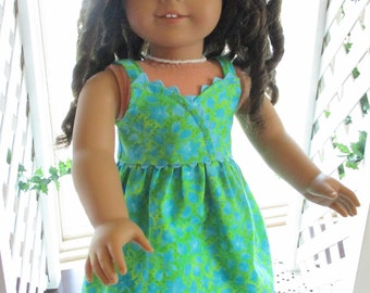 """Rainforest 18"""" Doll Dress to fit your 18"""" American Girl Doll"""