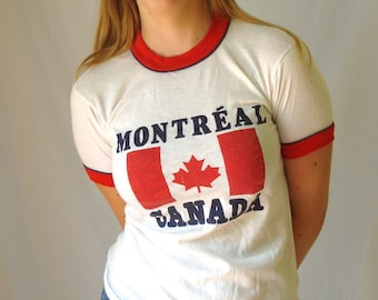 1980's vintage Montreal Canada t-shirt