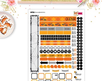 October 2017 Planner Stickers for your PERSONAL SIZE planner (MP10)