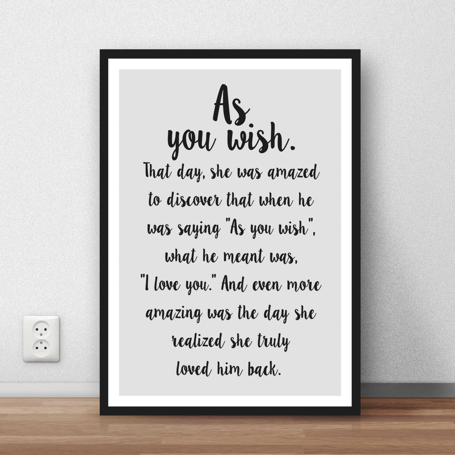 The Princess Bride Quote As You Wish Great Wall Art Poster
