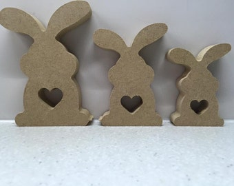 Freestanding Easter Bunny Family set of 3