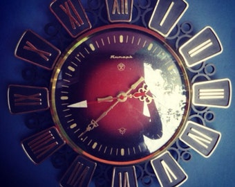 Retro Wall Clock. Vintage Clock