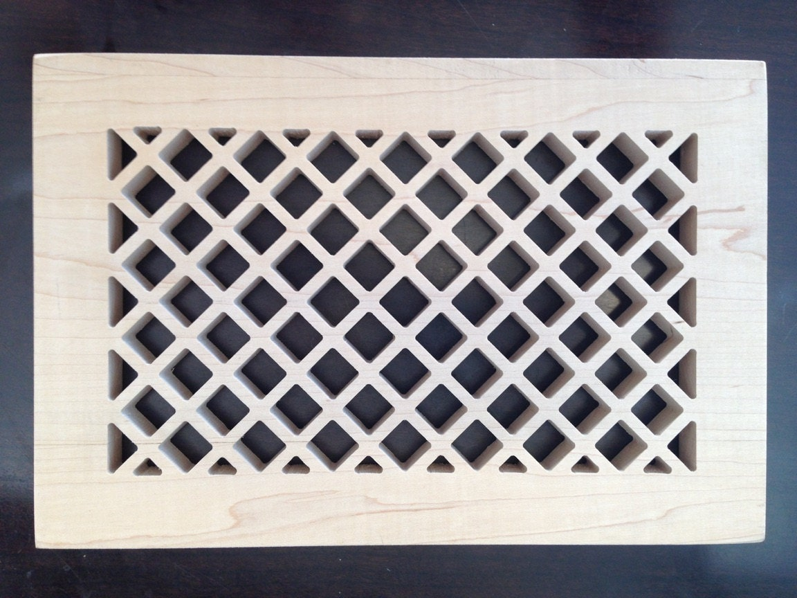 Decorative Vent Cover Hvac Register Laser Cut Maple
