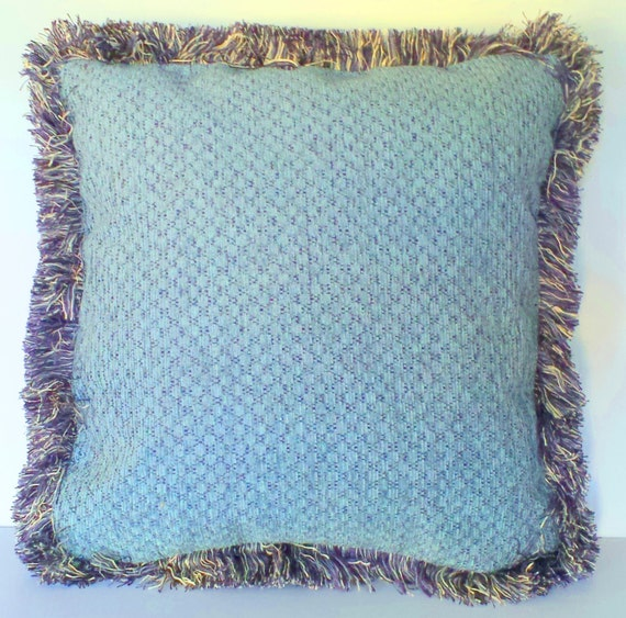 Throw Pillow Seafoam Green : Items similar to solid seafoam blue green throw pillow with fringe or piping chenille square on Etsy
