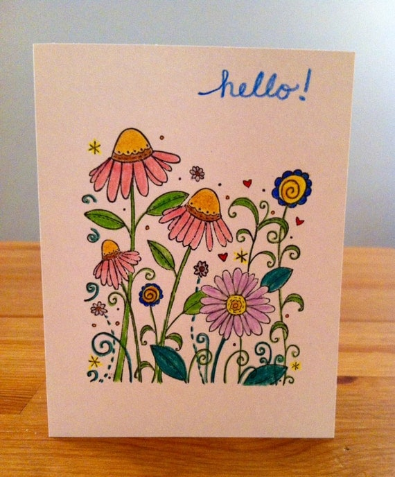 Prettyfolio whimsical garden hand stamped greeting cards set of 8 whimsical garden hand stamped greeting cards set of 8adult coloringcolor your cardhandmade greeting card setflowers m4hsunfo