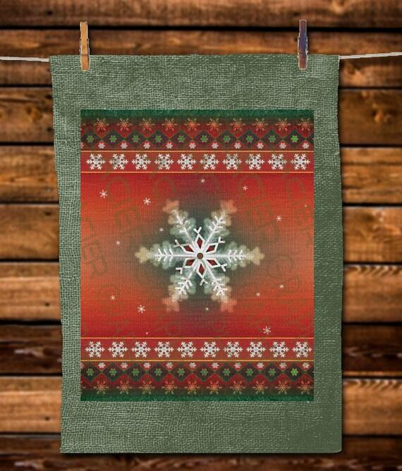 Native American Rugs In Santa Fe: Rustic Southwestern Christmas Snowflake Primitive Native